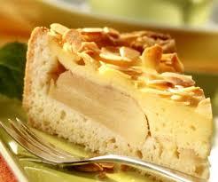 apfel pudding kuchen mit mandeln