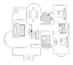 2D CAD House Floor Plan Layout CADBlocksfree CAD blocks free