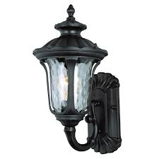 bel air lighting knolls 1 light black outdoor wall mount lantern