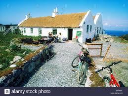 Man Aran Cottage Inishmore Aran Islands Co Galway Ireland