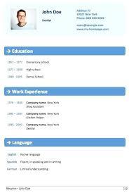 Best Free Word Resume Templates Template Cv Online