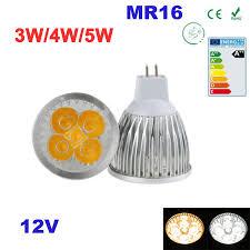 high power 3w 4w 5w mr16 led bulbs light 12v dimmable led