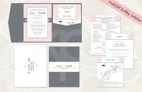 Elegant Flourish 01 Pocket Fold Wedding Invitation