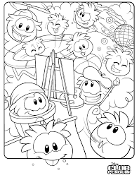 Club Penguin Coloring Pages Of