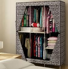 New Reinforced Portable Closet Folding Clothes Wardrobe
