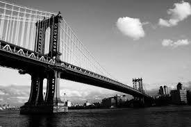 tableau moderne pont de manhattan à new york en noir et blanc
