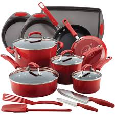 Play Kitchen Sets Walmart by Rachael Ray 17 Piece Cookware Set Walmart Com