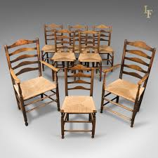 Set Of 8 Antique Dining Chairs, English, Ladderbacks, Shaker C.1850 Vfuhrerisch Antique Ding Room Table Seats 12 Style Rustic Ladder Back Chairs With Factory Distressed Finish Oak Ding Table And Chairs In Kingsbridge Devon Gumtree Rushseated Kitchen 4 French Rush Shells Tall Stretchers Attractive Set Of 6 Six Vintage Turned Oak Seat Pad Kitchen Forfar Angus 2m Farmhouse 8 Rustic Mk18 Vale Counter Wback Wood Height Countertops Woven Spanish Round Claw Foot Or W4 Leaf Elm 5 Carved Chair Shell Cabriole