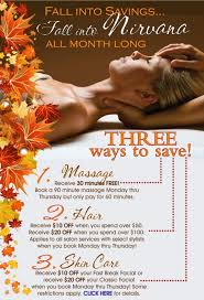 Urban Nirvana Is Running Some Great Spa And Salon Discounts ALL OCTOBER LONG