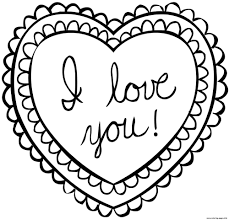 Valentine Card Valentines Day Coloring Pages