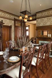 Victorian Dining Room Ideas Centerpiece For Window With Wood Fireplace Mantel Fruit Bowls