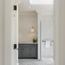 white and gray marble geometric bathroom floor tiles design ideas