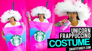 DIY Unicorn Frappuccino Costume