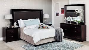 SIENNA 5PCE BEDROOM SUITE BLACK WOOD