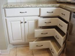 Upper Corner Kitchen Cabinet Ideas by Corner Kitchen Cabinet Ideas Hardwood Floor White Laminated