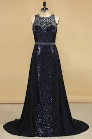 2017 Prom Dresses Scoop Sequins Mermaid Sweep Train BeadsRhinestones