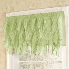 Sears Curtains And Valances by Cascade Sheer Voile Ruffled Tier Window Treatment