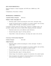 Ultrasound Resume Exles by Gallery Of Basic Ultrasound Technician Cover Letter Sles And