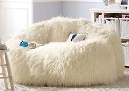 Image Is Loading Large Shaggy Faux Fur Beanbag Cover Plush Bean