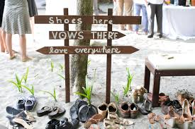 Beach Wedding Shoe Valet Tropical Discovery House Manuel Antonio Weddings