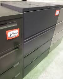 hon 42 4 drawer lateral file dark grey top flipper drawer 53