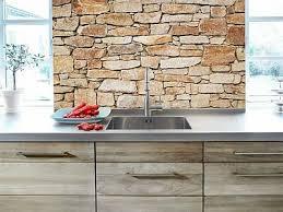 küchenrückwand steinwand plexiglas fliesenspiegel spritzschutz küche
