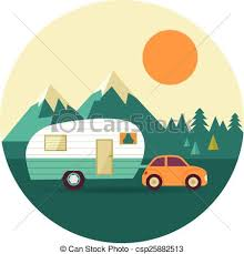 Rv Motorhome Camper Clip Artby Hugolacasse20 1529 Vector Vintage Background With Nature Forest Hills And