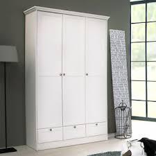 details zu kleiderschrank landwood drehtürenschrank schrank in weiß 3 türig landhausstil