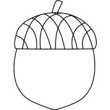 Acorn Black And White Clipart
