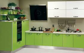 KitchenModern House With Glass Walls And Lime Green Cabinet Set Decor Kitchen