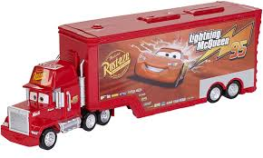100 Lightning Mcqueen Truck Amazoncom DisneyPixar Cars Mack And Transporter Toys Games