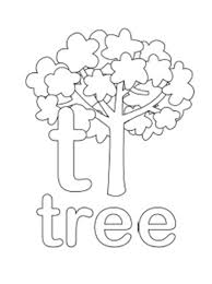 Alphabet Coloring Page Tree Lowercase