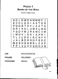 Books Of The Bible Word Search Coloring Pages