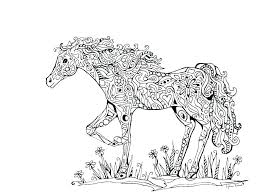 Horse Coloring Pages Carousel Page Free Color Pictures