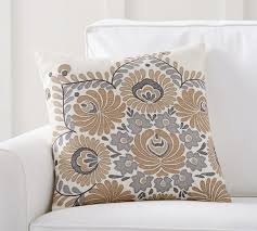 bea embroidered pillow cover pottery barn