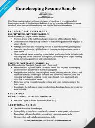 Download Our Sample Of Housekeeping Resume Free Hospital Examples