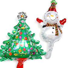 Christmas Ornaments Balloons 10pcs 16inch Tree Decorations For Home Party Supplies Ball Snowman Foil Globos