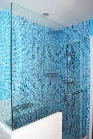 great blue shower tile about modern home interior design ideas