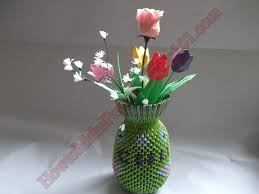 Paper Vase How To Make Flowers