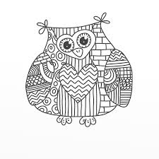 Paisley Owl Coloring Pages Free Online Printable Sheets For Kids Get The Latest Images Favorite