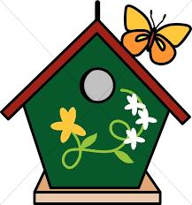 Bird House Clipart