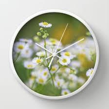 Daisy Clock Unique Wall Clocks Floral Art Nature
