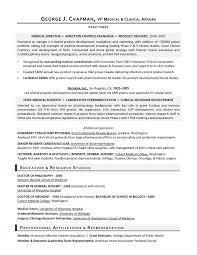 VP Medical Affairs Sample Resume