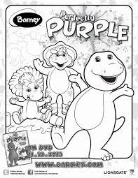 Barney Printable Coloring Sheet 4 Kids