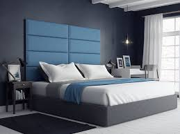 Joss And Main Headboards by Rest Easy Surrounded In A Cozy And Padded Suede Blue Kingsize