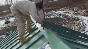 Installing Metal.ridge Cap On Standing Seam Barn Roof - YouTube Components Borga Ideas Tin Siding Corrugated Metal Prices 10 Ft Galvanized Installing On A House Part 1 Of 4 Youtube Roof Options Coverworx Gibraltar Building Products 3 Ft X 16 Barn Red Panels Koukuujinjanet Roof Formidable Roofing Pa Roofs Amazing Black Burnished Slate Ab Martin Supply Entertain Insulated Cost Per Square Foot