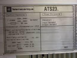 Siemens Dresser Rand Synergies by Telemecanique Ats23d72n 50hp Altistart 3 Soft Starter 460v Start