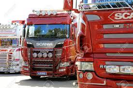 100 Scania Trucks HAMEENLINNA FINLAND JULY 15 2017 Customized