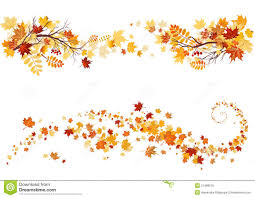Autumn Leaves Border Stock Vector Illustration Of Color