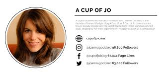 Best Lifestyle Blogger A Cup Of Jo Social Media